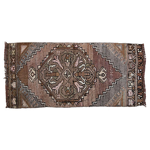 """Handmade Turkish Rug, 1'6"""" x 3'3"""""""