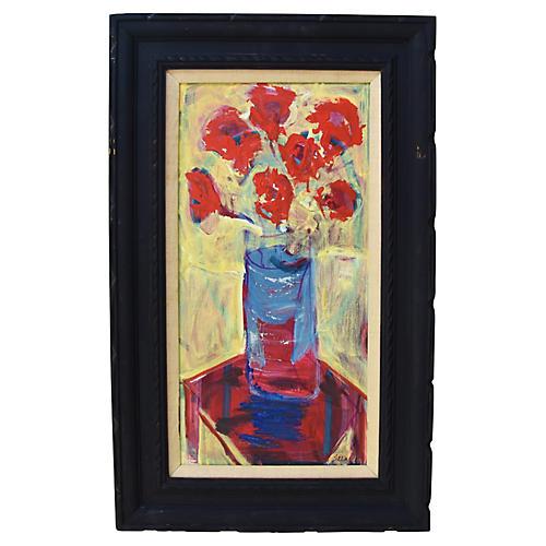 Juan Guzman Impressionist Floral w/Vase