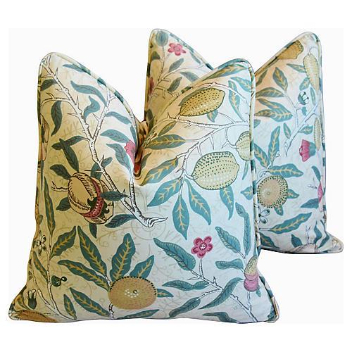 William Morris & Co Fruit Pillows, Pair