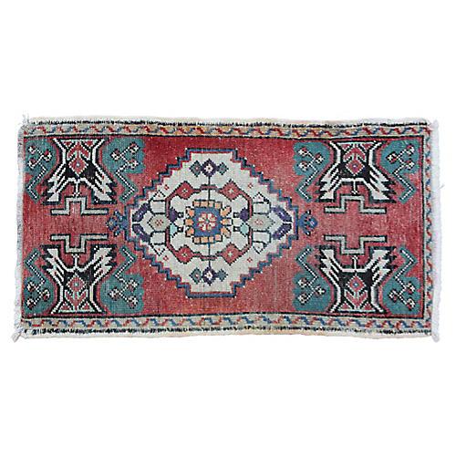 """Handmade Turkish Rug, 1'7"""" x 3'1"""""""
