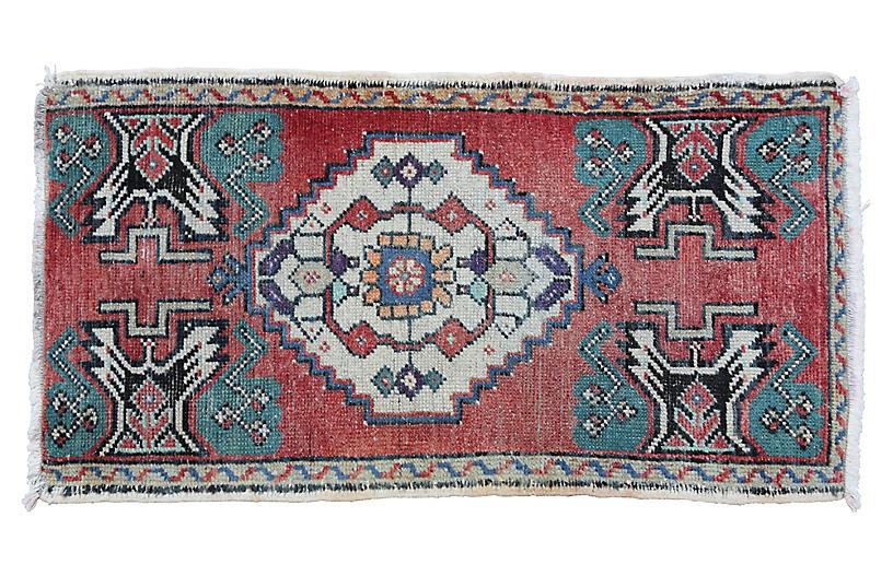 Handmade Turkish Rug, 1'7
