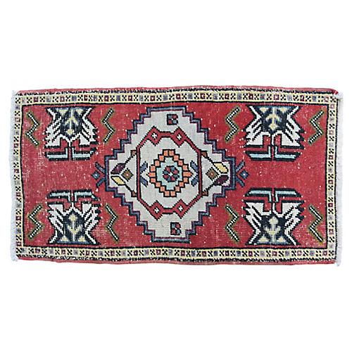 """Handmade Turkish Rug, 1'9"""" x 3'4"""""""