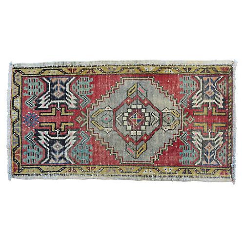 """Handmade Turkish Rug, 1'8"""" x 3'3"""""""
