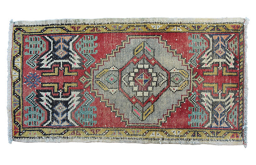 Handmade Turkish Rug, 1'8