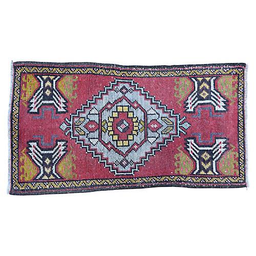 """Handmade Turkish Rug, 1'8"""" x 3'1"""""""