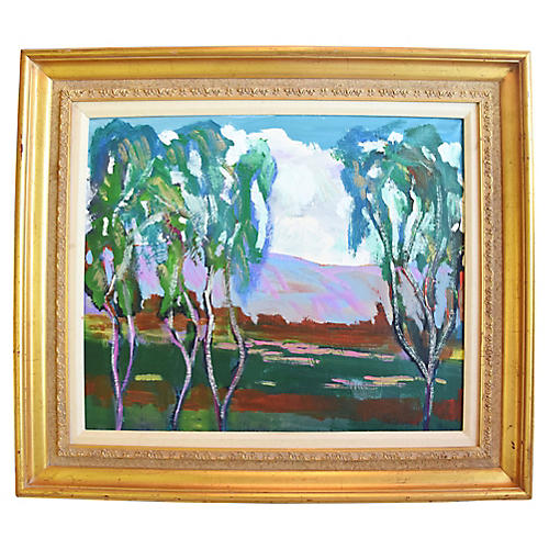 Juan Guzman Ojai Landscape Oil Painting