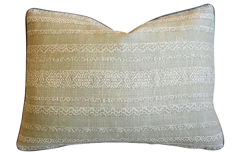 Green & Cream Kerry Joyce Striped Pillow