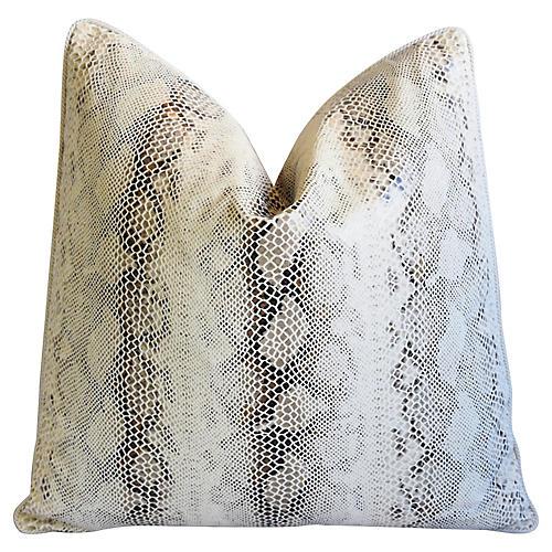Kravet Faux Python Snakeskin Pillow