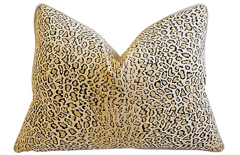 Big Cat Cheetah Leopard Velvet Pillow