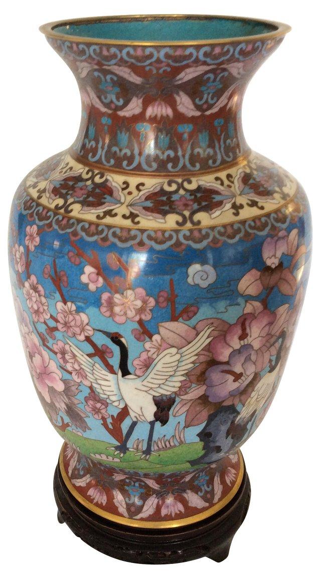 Cloisonné Vase w/ Stand