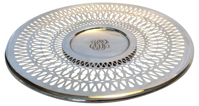 Sterling Silver Reticulated Plate