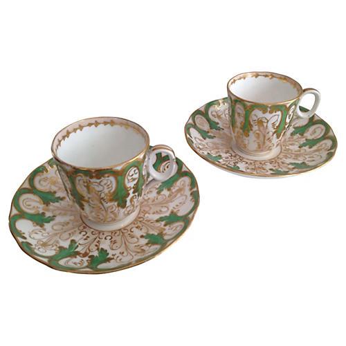 Davenport Cups & Saucers, S/2