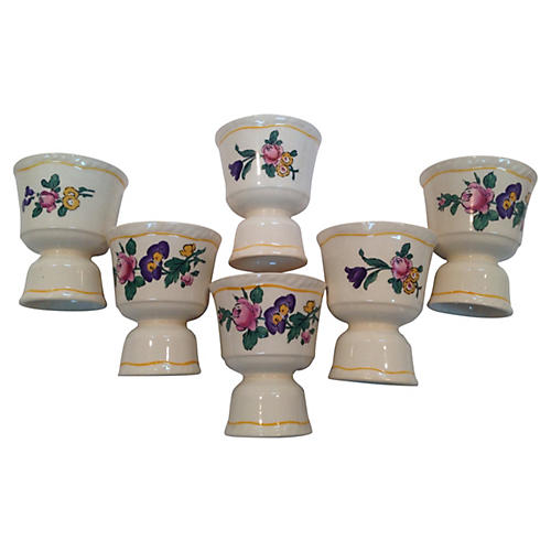 Floral Egg Cups S/6