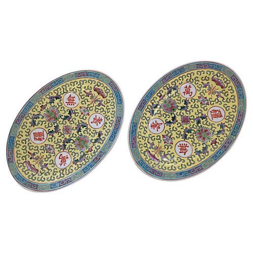 Chinoiserie Platters, Pair