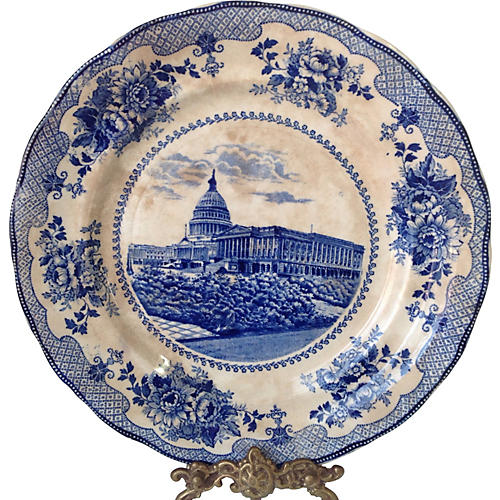Antique Buffalo Pottery Capitol Plate