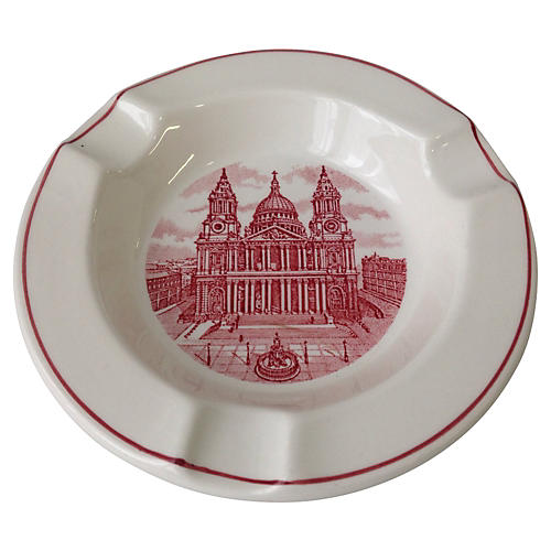 St Paul's Cathedral London Scene Ashtray