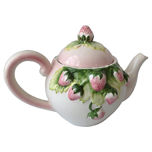 Strawberry Teapot by J. Willfred