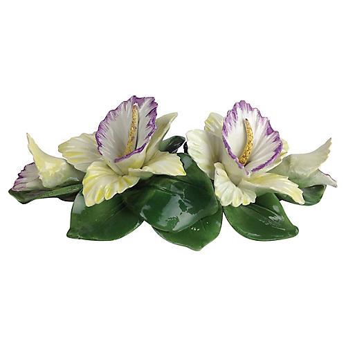 Porcelain Floral Candleholder