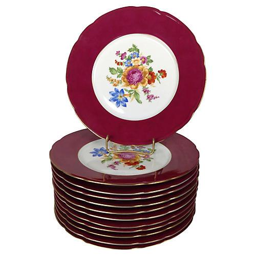 Bohemian Dinner Plates, S/12