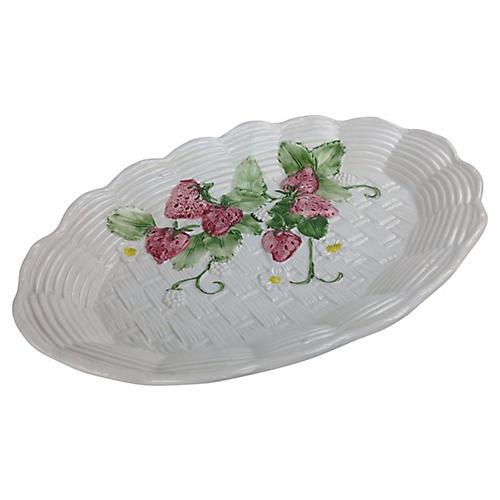 Italian Strawberry Serving Platter