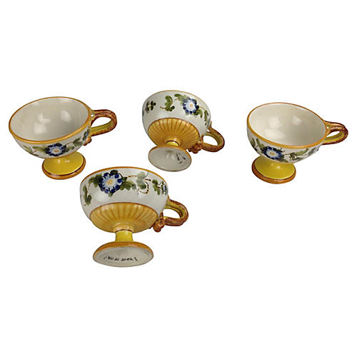 Italian Petite Handled Cups, S/4