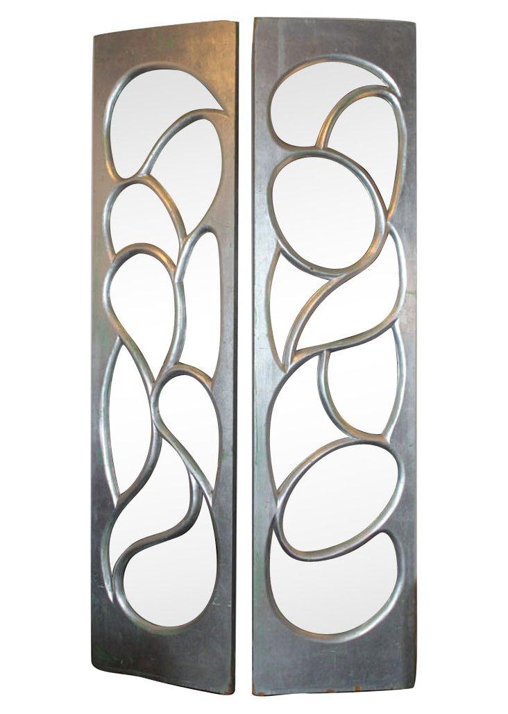 Phil Powell Mirrored Doors, Pair