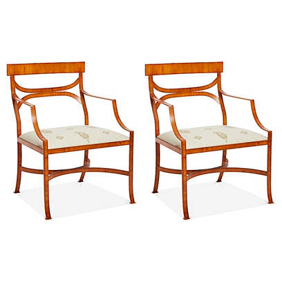 Maitland-Smith Tole Chairs, S/2