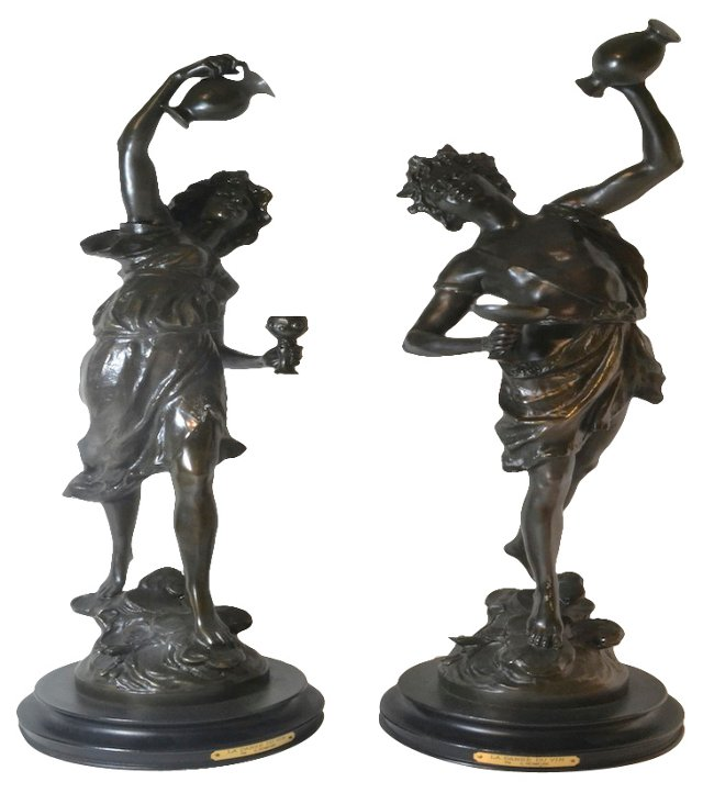 The Dance of Wine Statues, Pair