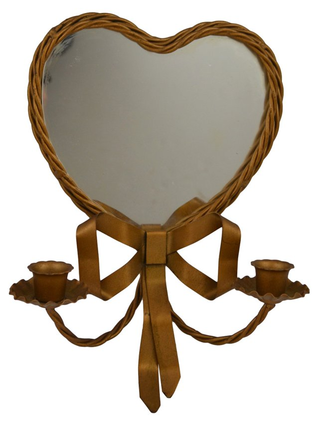 Heart-Shaped Mirror Sconce