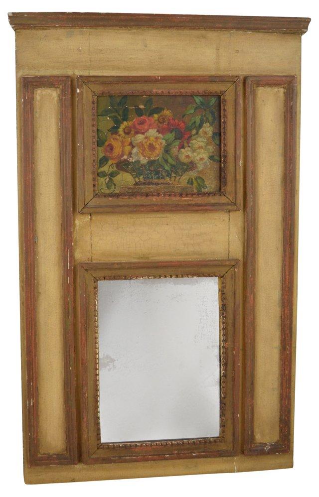 19th-C. Trumeau Mirror