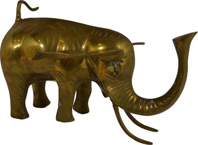 Brass Elephant Figurine