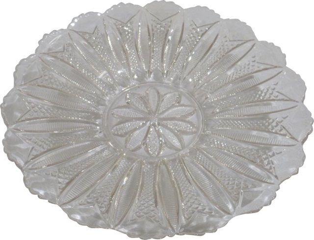 Pressed Glass Plate, C. 1940