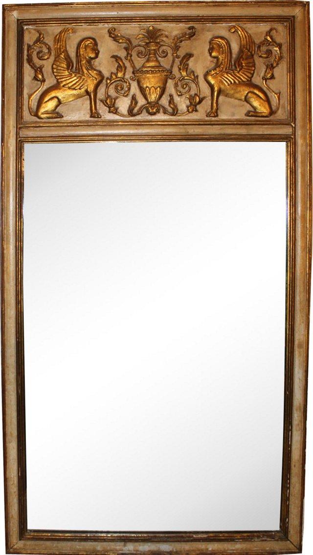 Italian Empire Gold Leaf Mirror