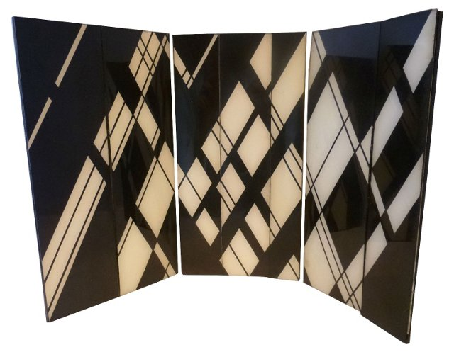 Art Deco-Style Table Screen