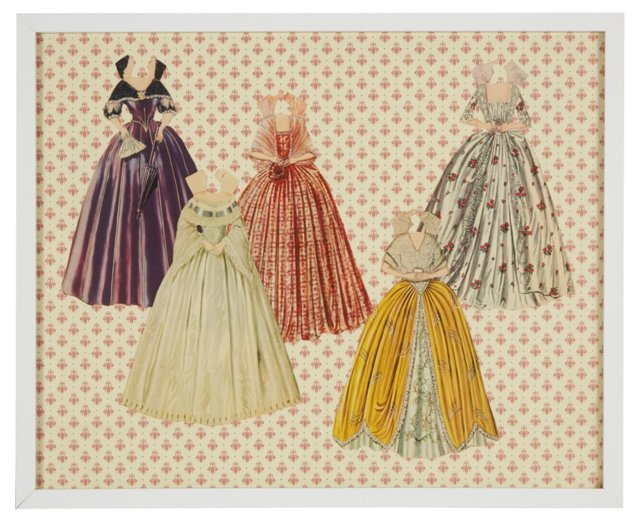Queen Victoria Paper Doll Gowns