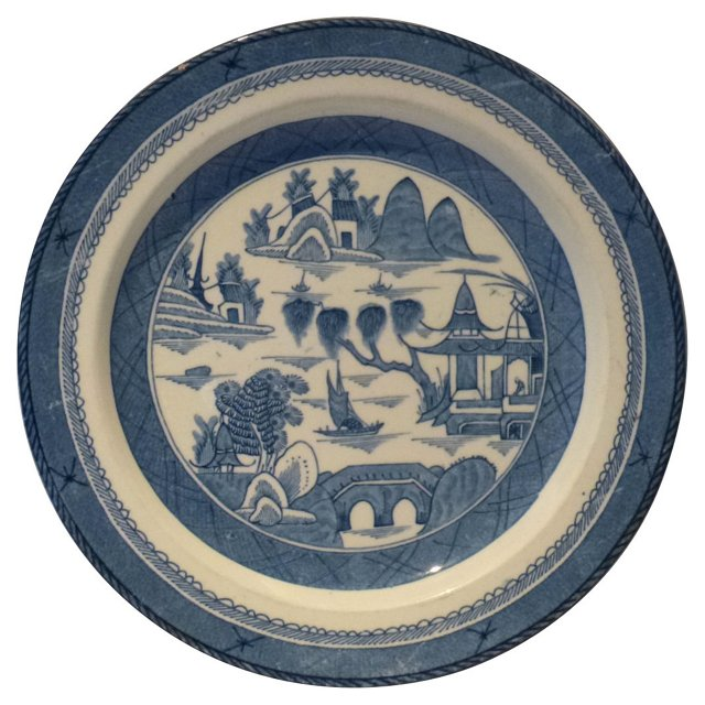 Antique English Canton Plate