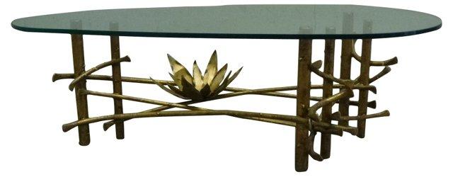 Lotus Glass Top Table