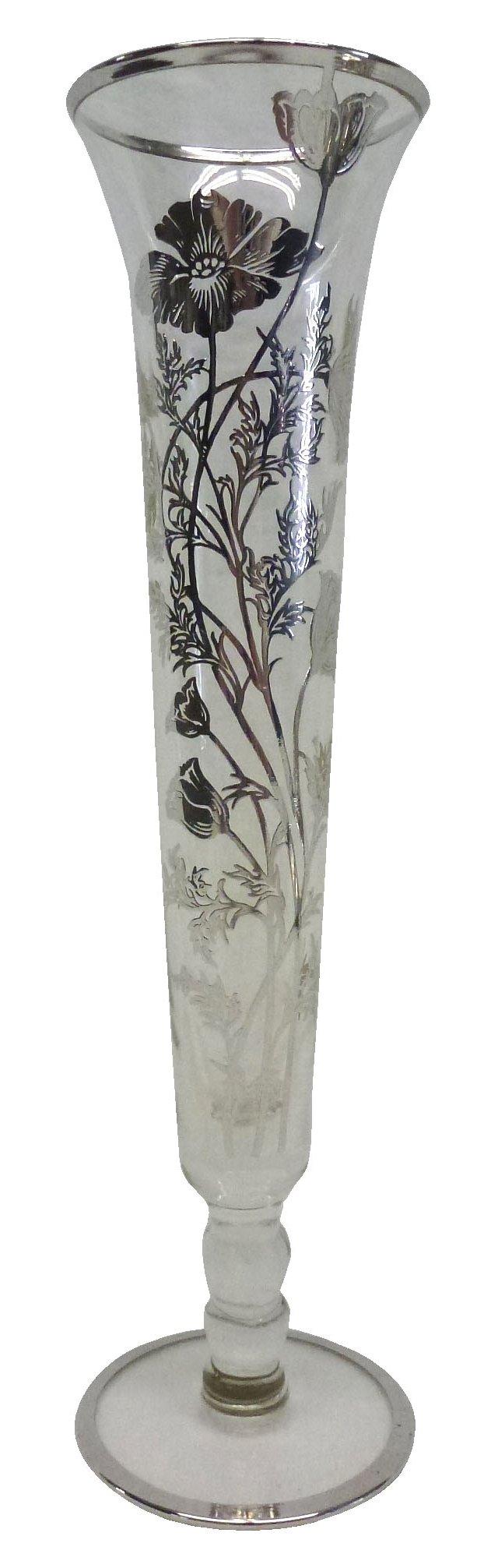Glass Bud Vase w/ Overlay