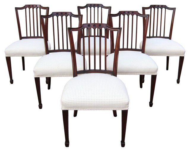 Federal-Style Mahogany Chairs, S/6