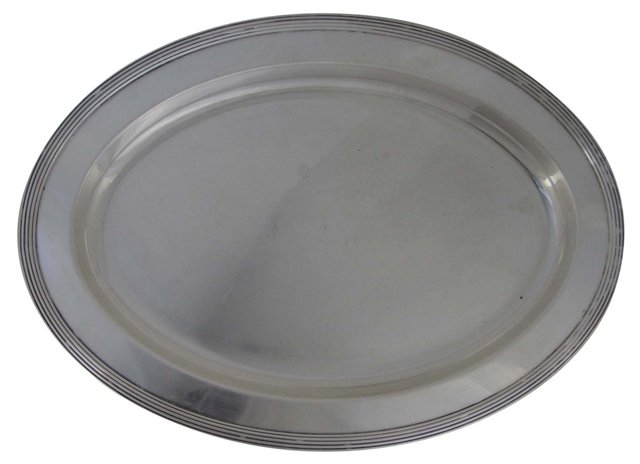 Oval Silverplate Serving Tray