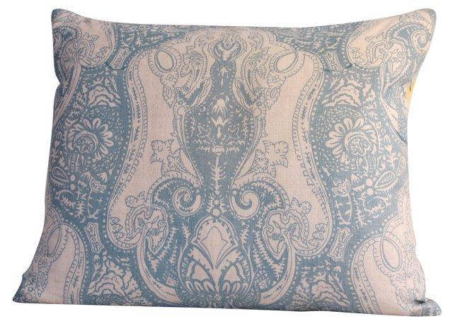 Block-Printed Linen Pillow