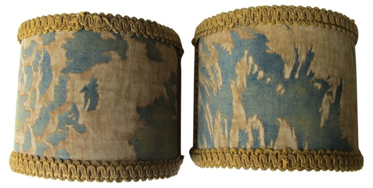 Sconce Shades w/  Antique Fortuny