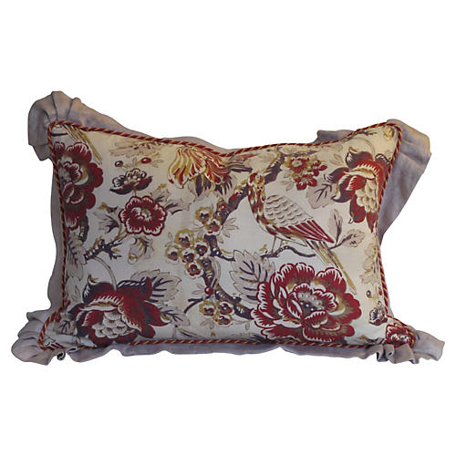 French Printed Linen Pillow