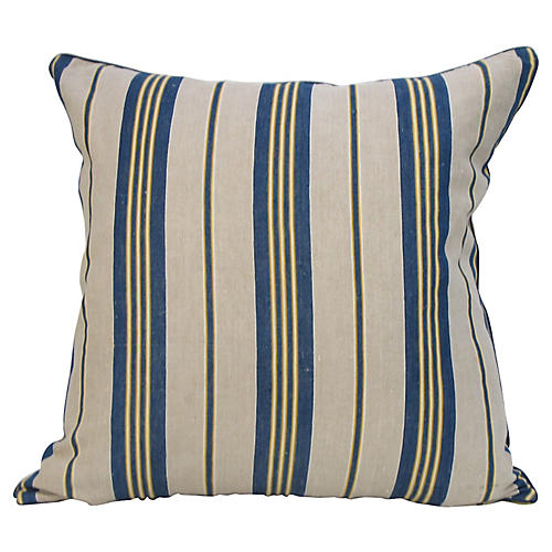 French Ticking Stripe Pillow