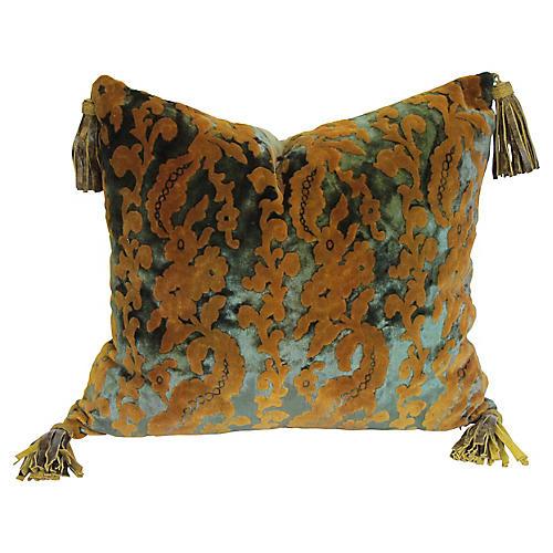 Circa 1900 Velvet Pillow
