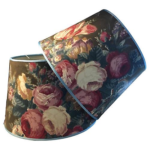 Vintage Chintz Lampshades/pair