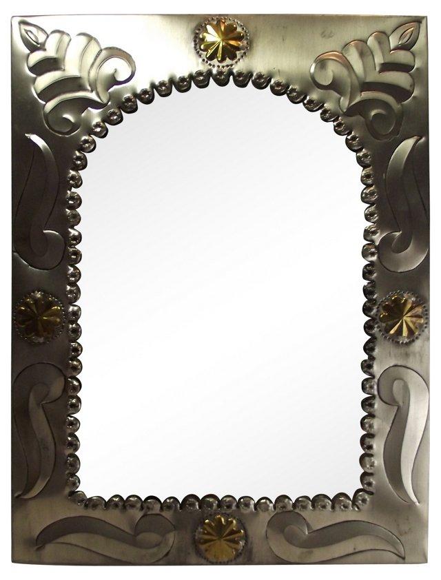 Tin & Brass Hall Mirror