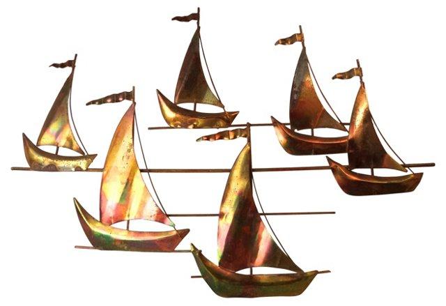 Midcentury Ship Wall Sculpture