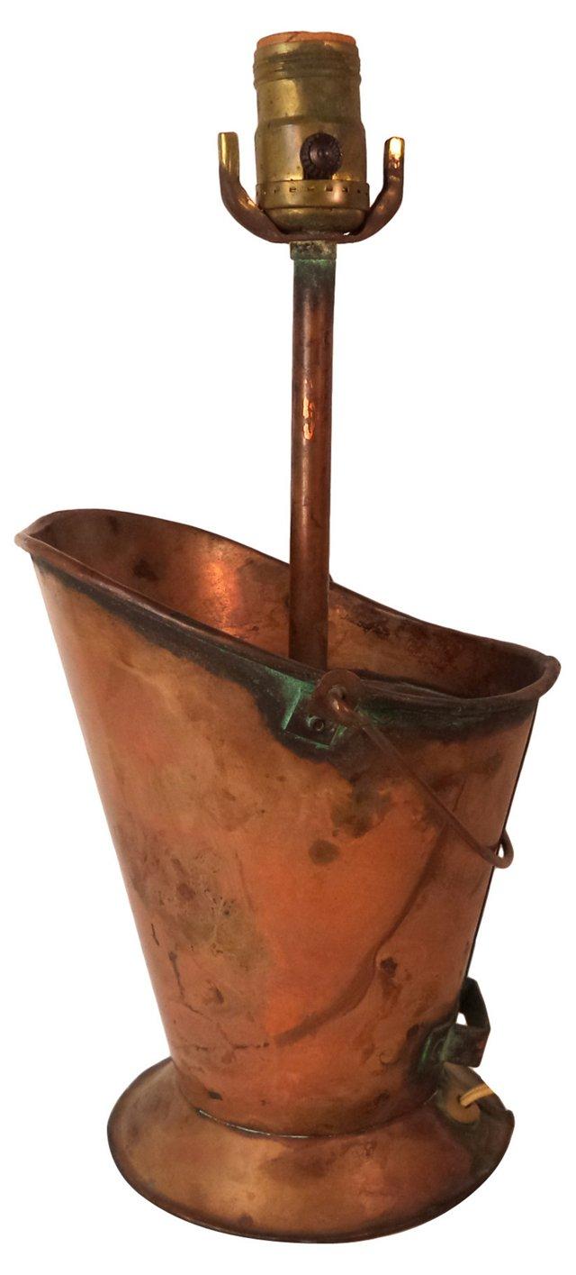 Copper Pail Lamp
