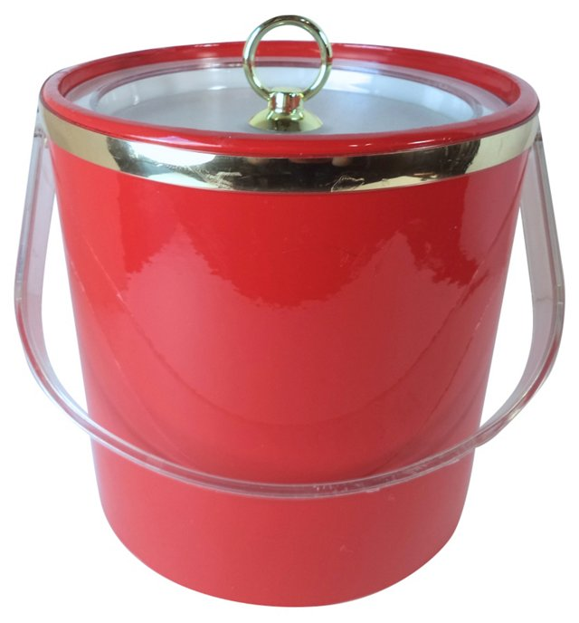 Red & Gold Ice Bucket